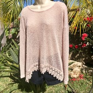 Wallpapher Brand Knit Top L
